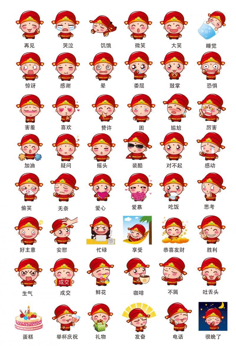 幸运神之小财神表情包微信首发插图2