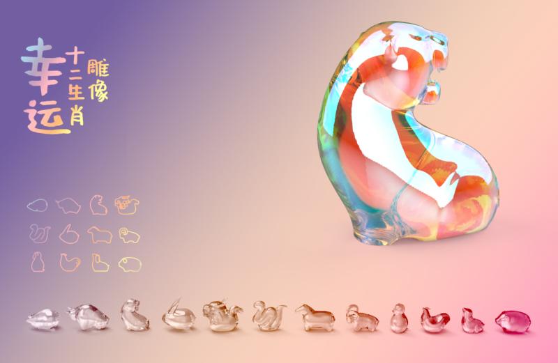 五彩缤纷的艺术雕像-幸运十二生肖插图3
