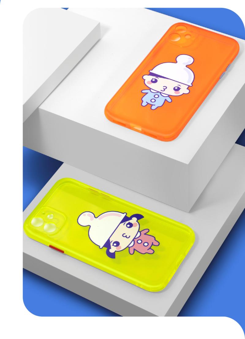 幸运情侣 荧光精孔 苹果/华为系列手机壳插图7