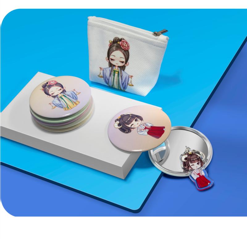 幸运十二星座古装 铁制 小镜子/随身镜/化妆镜插图(7)